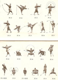 The Shaolin Luohan fist-kunyu mountain shaolin martial arts academy China