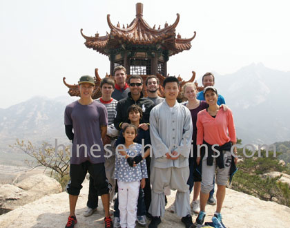 Our students in kunyu mountain