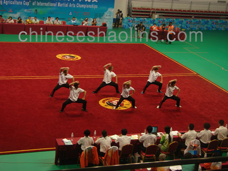 Kunyu mountain shaolin martial arts academy took part in competition