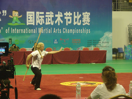 In competition