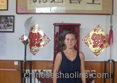 Geraldine stayed for long term to learn kung fu in kunyu mountain school.