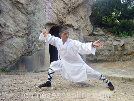 8c59bba86 Headmaster performing Tai chi in Taoism temple next to us