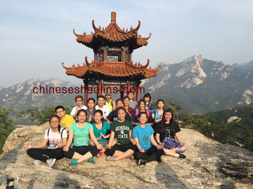 The group from American school trained in academy in Kunyu Shan,