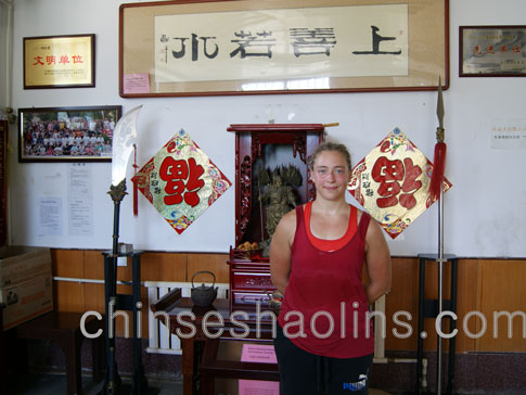 She trained kung fu here for three month in Kunyu mountain academy